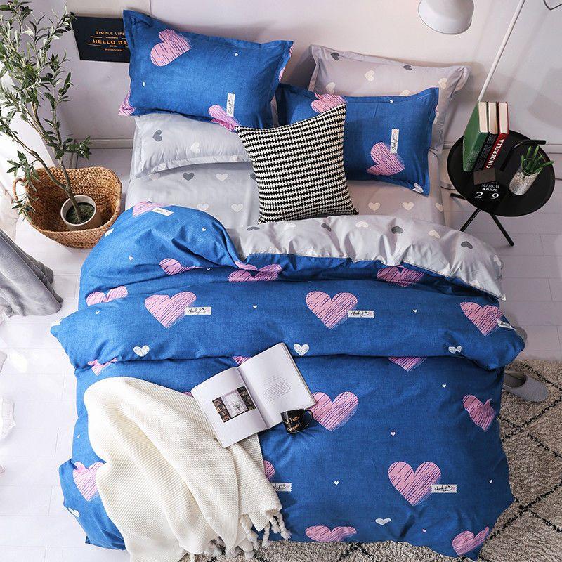 Blau Herz Quilt Tukr Bettbezug Baumwollmischung Koreanischen Bett