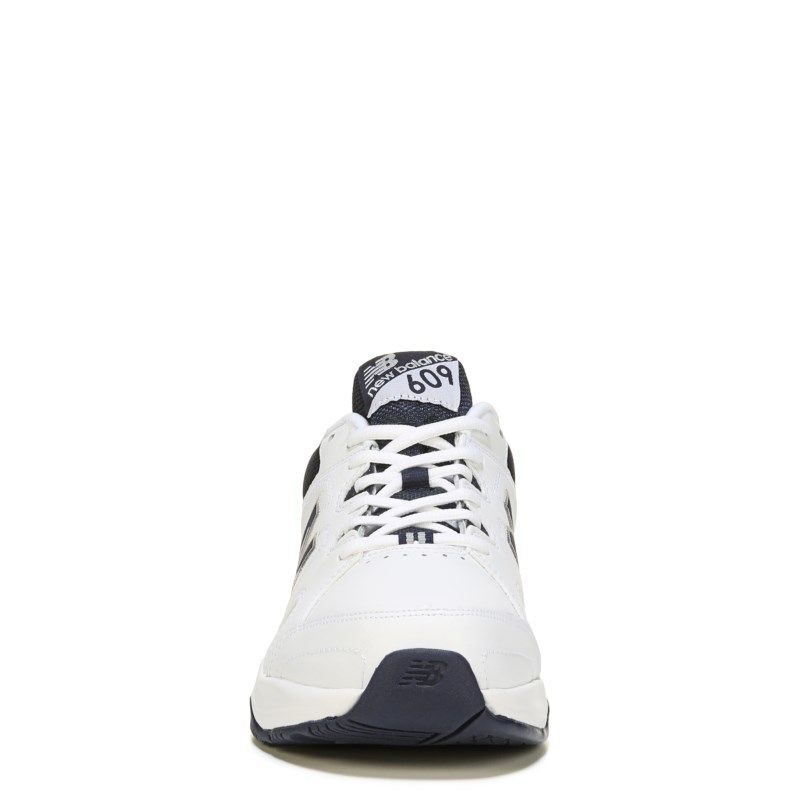 New Balance Men's 609 V3 Memory Sole X-Wide Sneakers (White/Navy)