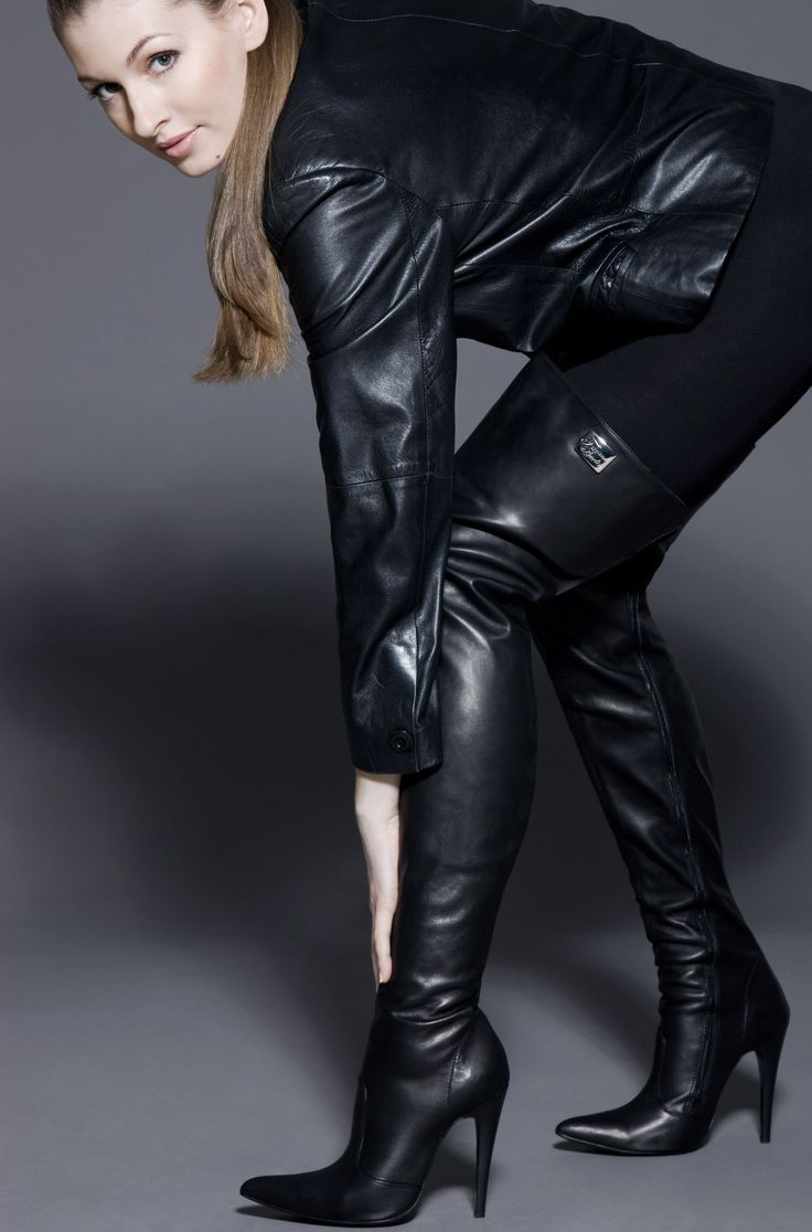 Women In Leather And Boots | Leather fashion | Pinterest | Leather