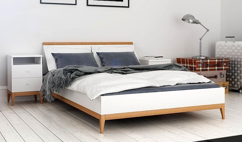 łóżko Visby Livia łóżka Sosnowe Nowoczesne łóżka Drewniane