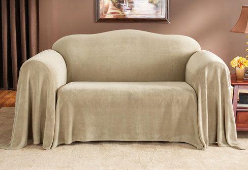 Sure Fit Slipcovers Plush Furniture Throw Sofa Throw 70 Inch X