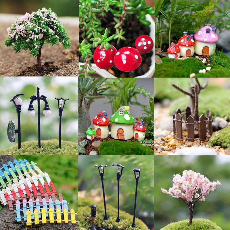 garden ornaments and accessories. miniature fairy garden ornament decor pot diy craft accessories dollhouse new ornaments and e