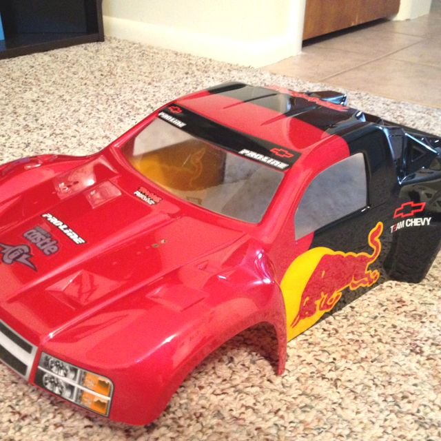 First Custom RC Body Proline Silverado Chevy Body Custom Hand - Custom vinyl decals for rc carsimages of cars painted with flames true fire flames on rc car