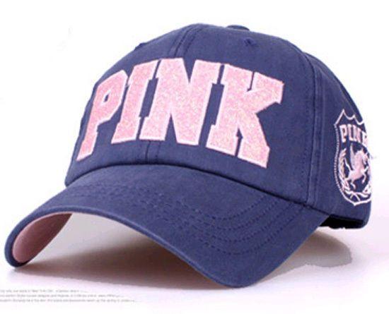 WOMENS LADIES GIRLS BASEBALL CAP VINTAGE STYLE HAT GLITTER PINK CAPS NAVY #BOACAP #BaseballCap