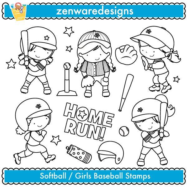 Girly sports | Etsy  |Girly Baseball Player