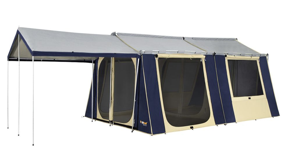 Oztrail 12 X 15 Canvas Cabin Family Tent Sleeps 12 Cabin Tent Family Tent Tent