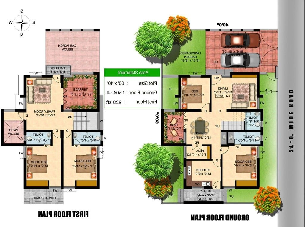60 X 40 House Plans East Facing Elegant Duplex House Plans For 60 40 Site North Facing Sitefacinghome Duplex House Plans 30x40 House Plans House Layout Plans