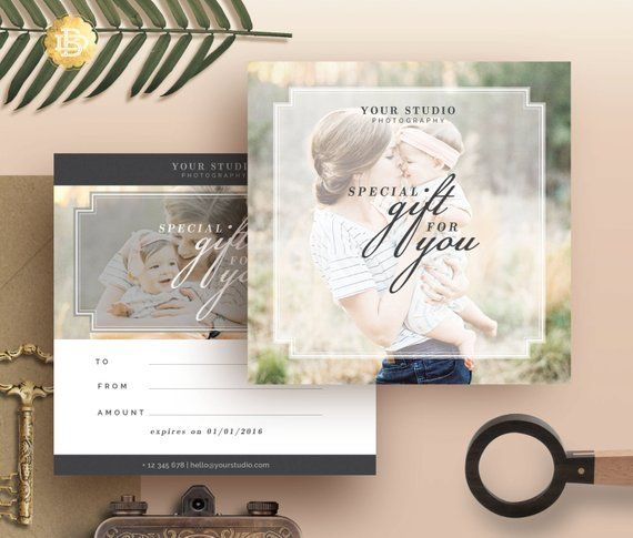 Photography Gift Certificate Template Gift Card Design Photo