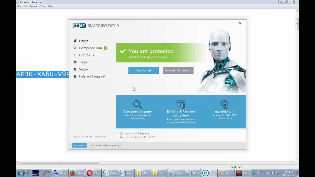eset mobile security android serial key