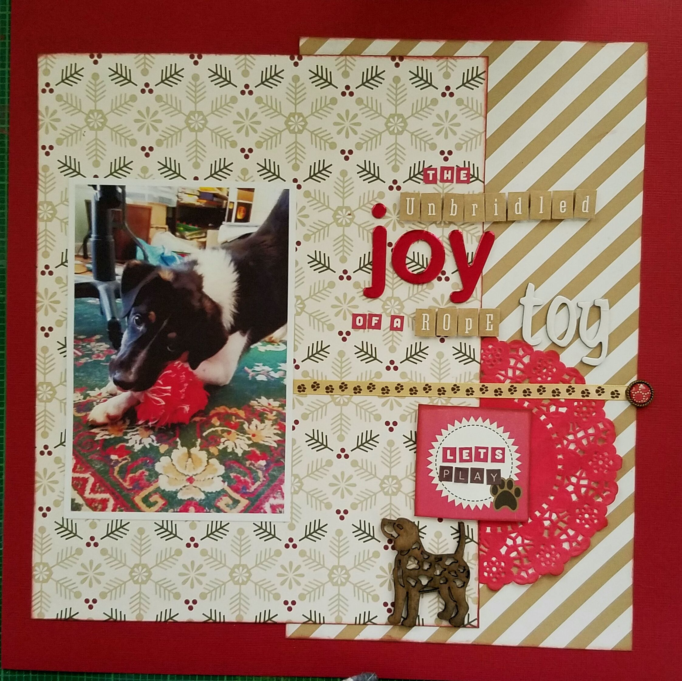 Scrapbook ideas for dogs - The Unvridled Joy Scrapbook Com Joy Scrapbookpuppy Ideaspet