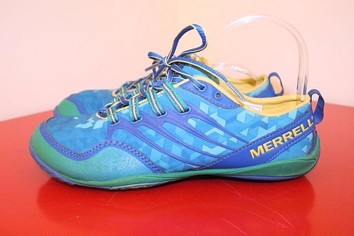 Merrell Shoes 7.5 Blue Green Apollo Barefoot Performance Athletic Sneakers…