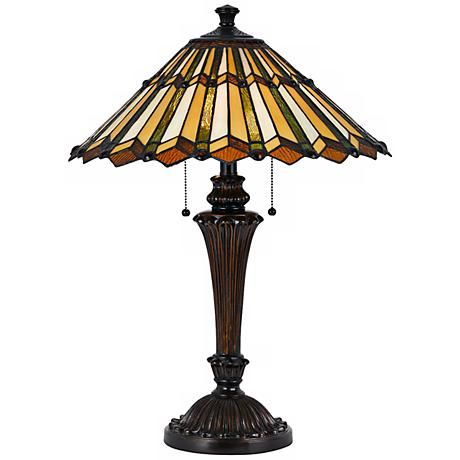 Accordion shade 2 light tiffany style table lamp lamp pinterest accordion shade 2 light tiffany style table lamp mozeypictures Choice Image