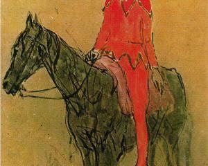 pablo picasso___harlequin on the horseback 1905