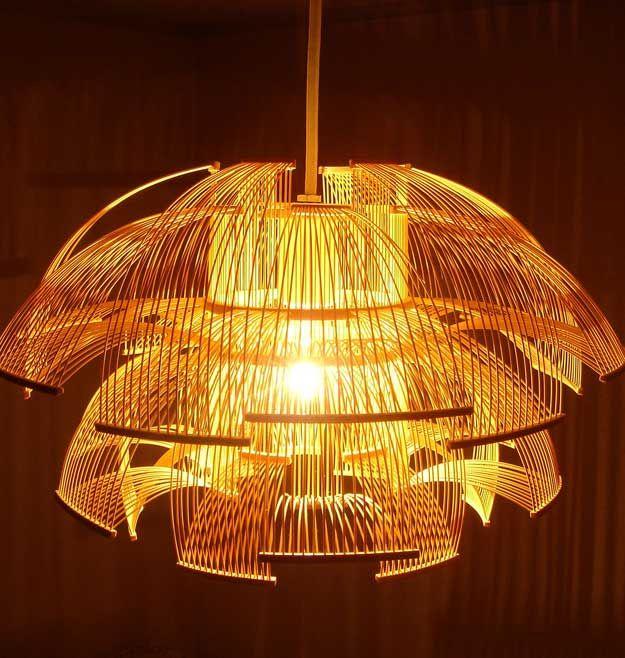 Sen Pendant light (Japanese Bamboo) By Toshiyuki Tani