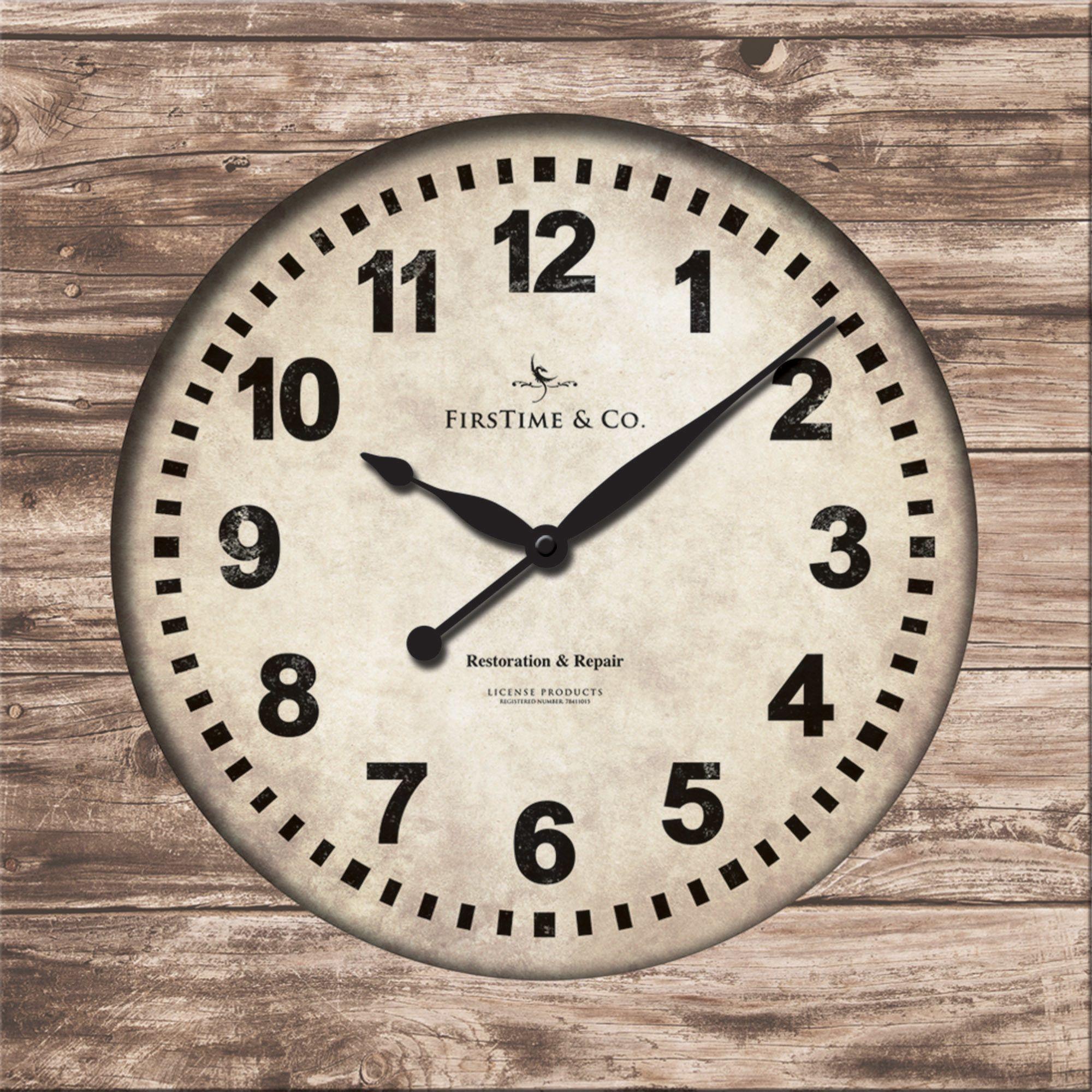 Weathered Square Wall Clock | Square wall clock, Wall ...
