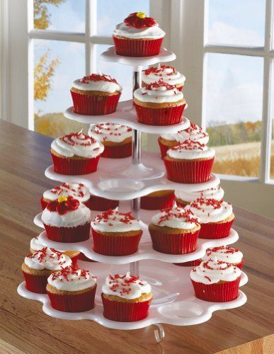 5 Tiered Tower White Cupcake Holder Stand, http://www.amazon.com/dp/B00FHMN9KY/ref=cm_sw_r_pi_awdm_8dQmub1HN6Z8K