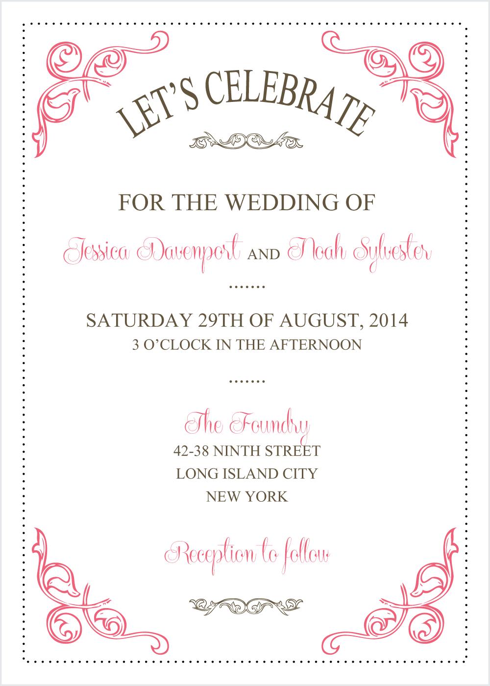 wedding invitation templates - Google Search  Wedding invitations printable templates, Free