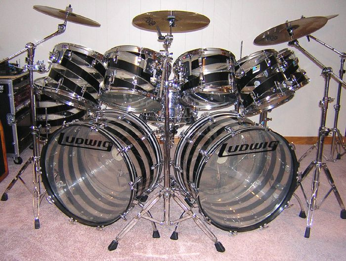 Ludwig Vistalite Black & Clear swirl