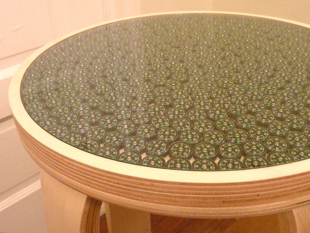 Great Compass Table. Resin Table TopCut ...