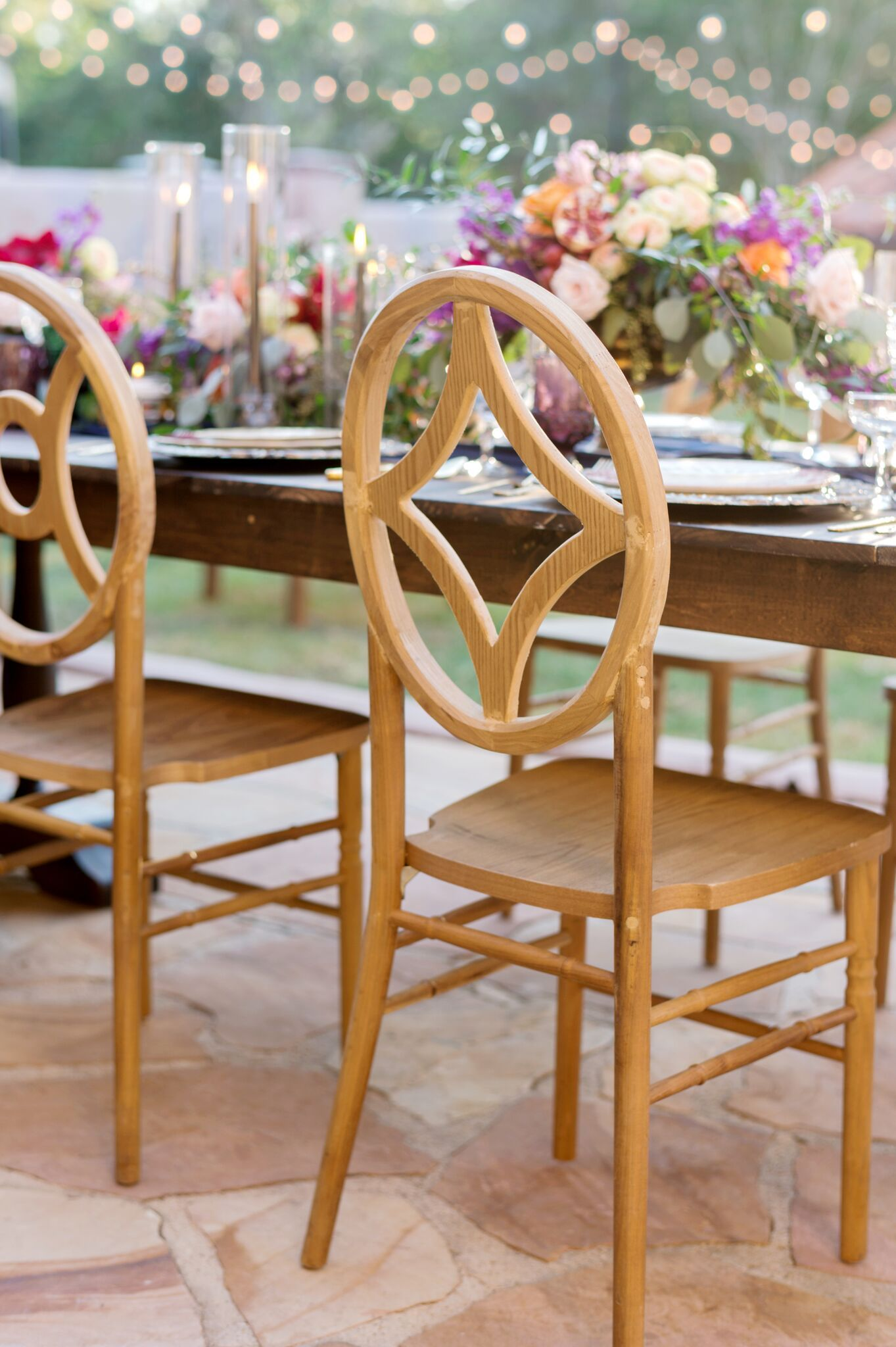 table chair rentals orlando equestrian saddle vineyard mismatched chairs wedding and party style decor floral tablescape ceremony reception colors events vendors florida