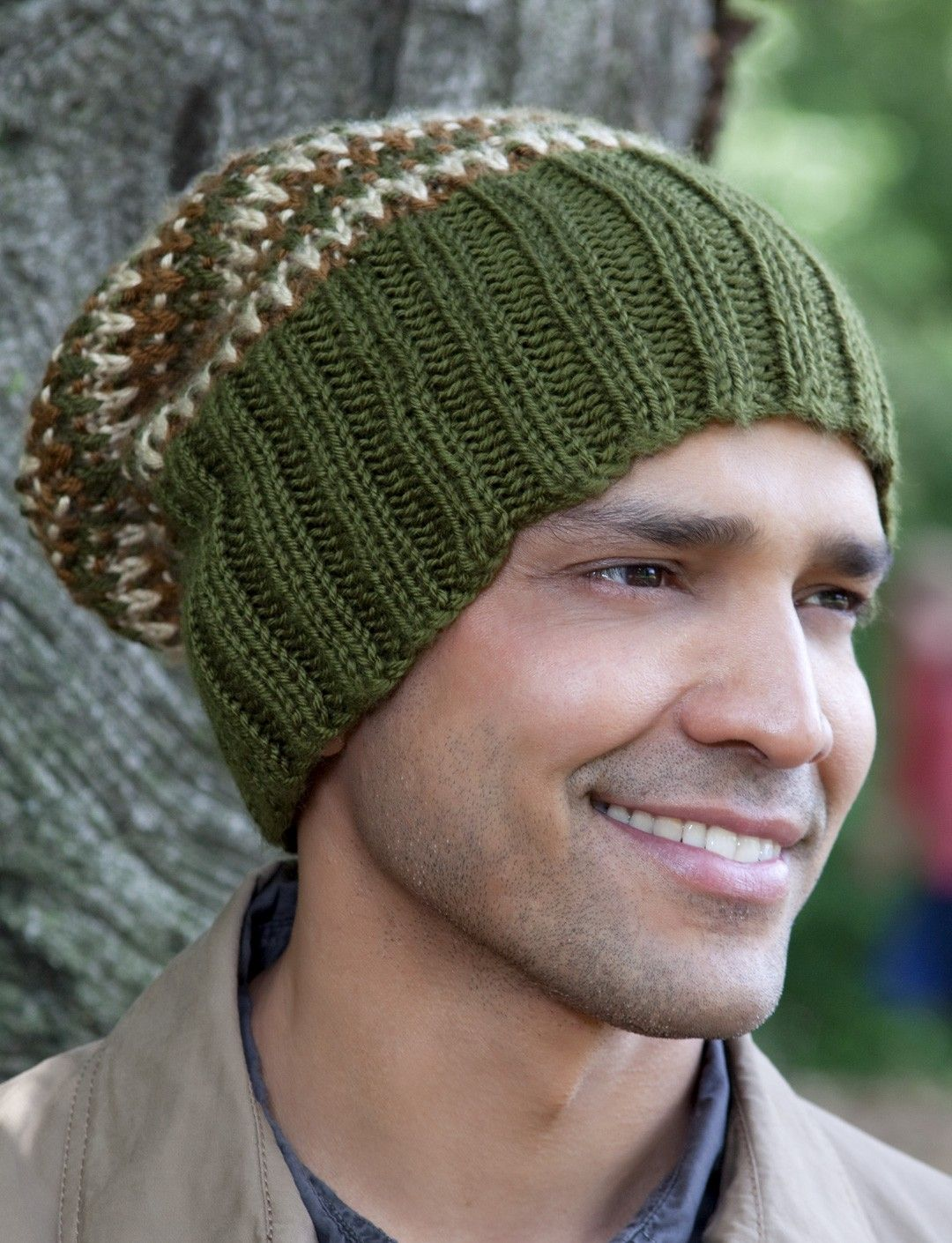 db996325fff5a ... men s beanie! Yarnspirations.com - Caron His Tri-Color Hat - Patterns