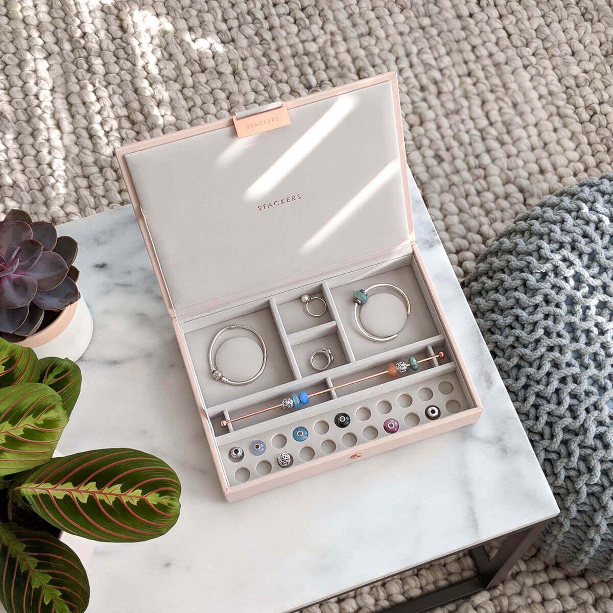 Stackers Sperkovnice Classic Limited Blush Charm Lidded Ruzova Pandora Jewelry Box Jewelry Organizer Box Stackers Jewellery