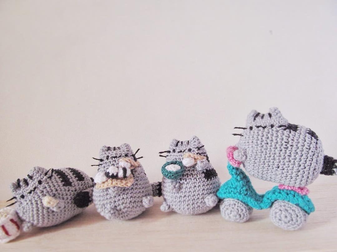 pusheen #peixeagulha #amigurumi by opeixeagulha   amigurumi cats and ...