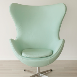 Mint Leather Rocking Egg Chair The Block Shop Channel