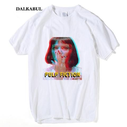 31c4b690066b Women Classic Movie Pulp Fiction T shirt I Said God damn MIA WALLACE Tees  Summer Men