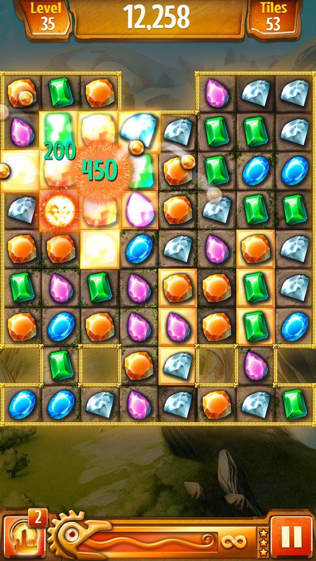 Jewel Quest iOS on Behance Design puzzle, Game item