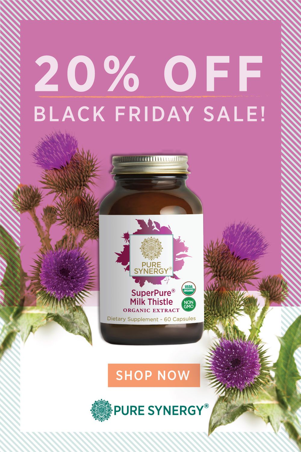 Shop Pure Synergy's Black Friday sale and save 20