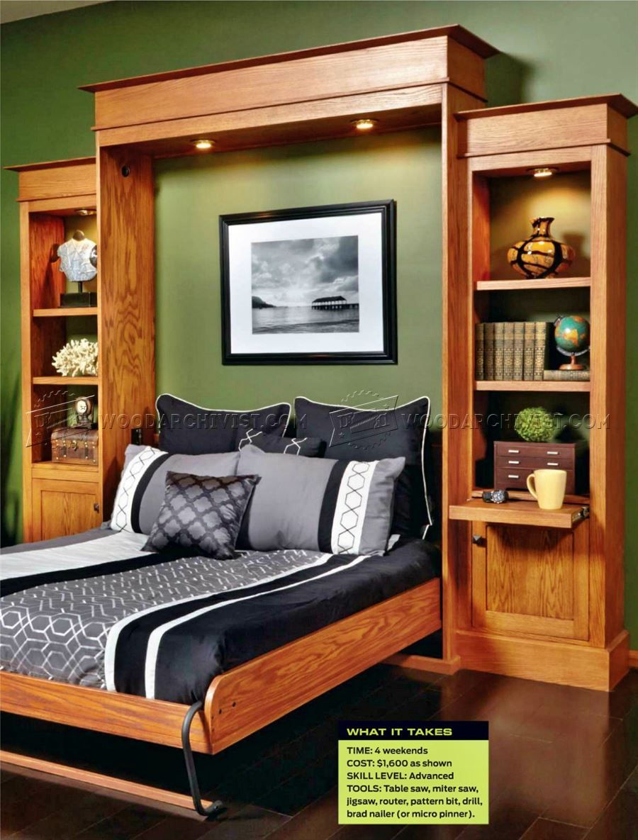 Build murphy bed furniture plans diy and crafts pinterest build murphy bed furniture plans solutioingenieria Gallery
