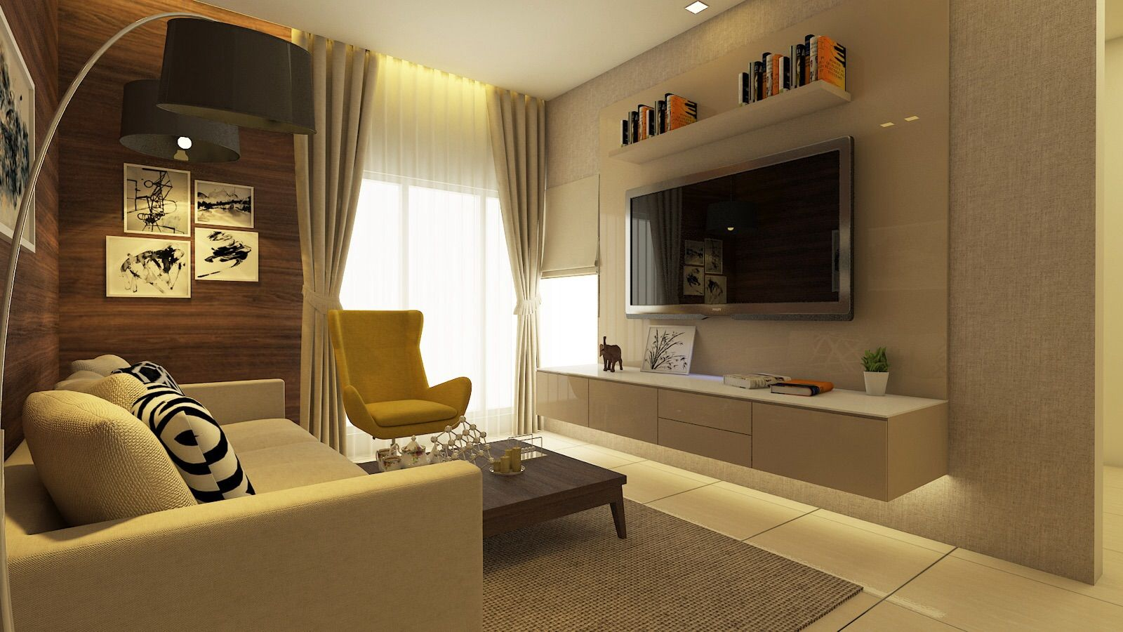Living Room Residence Sample Flat For Zara Habitats Llp Mumbai In By Saima