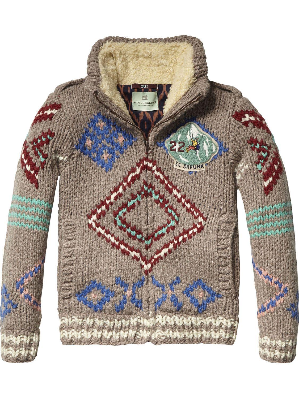 Chunky Cardigan | Pullover | Boy's Clothing at Scotch & Soda