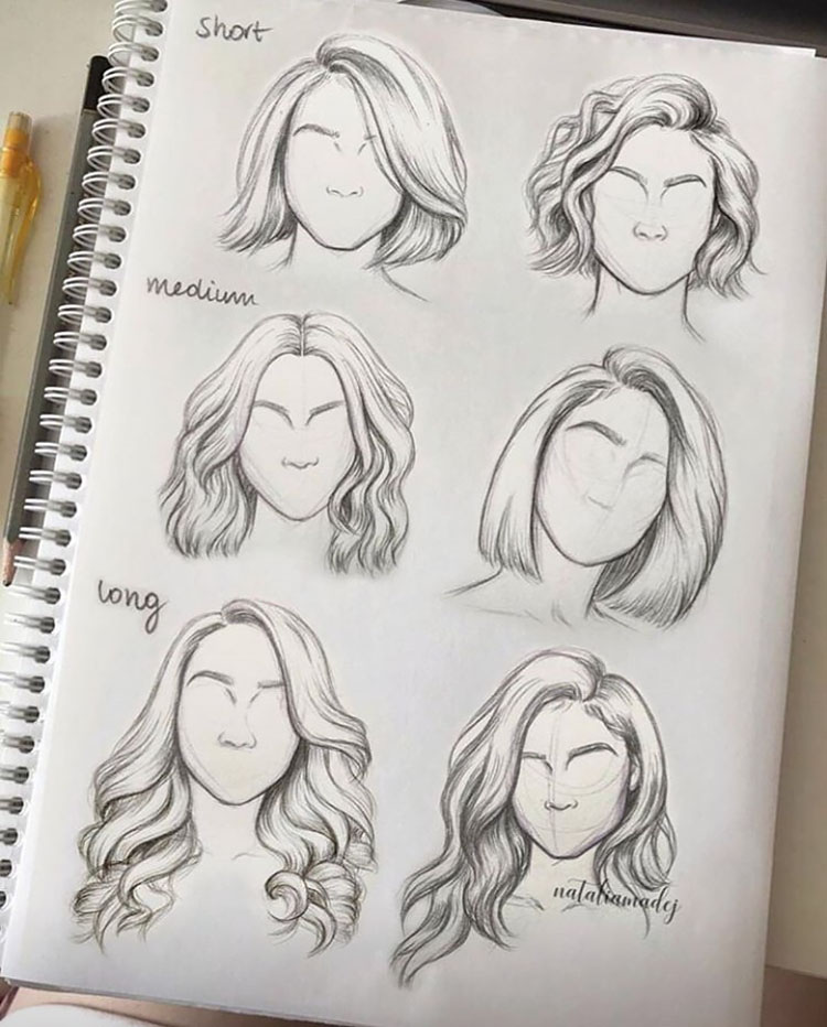 22+ Girl Hair Drawing Ideas and References - Beaut