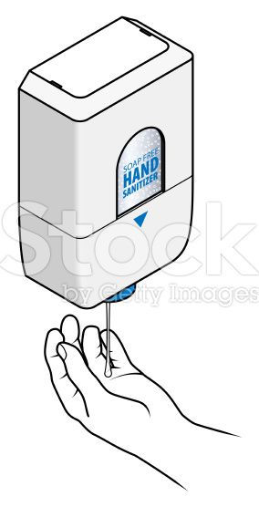 A Soap Free Hand Sanitizer Automatic Dispenser With A Hand Hand