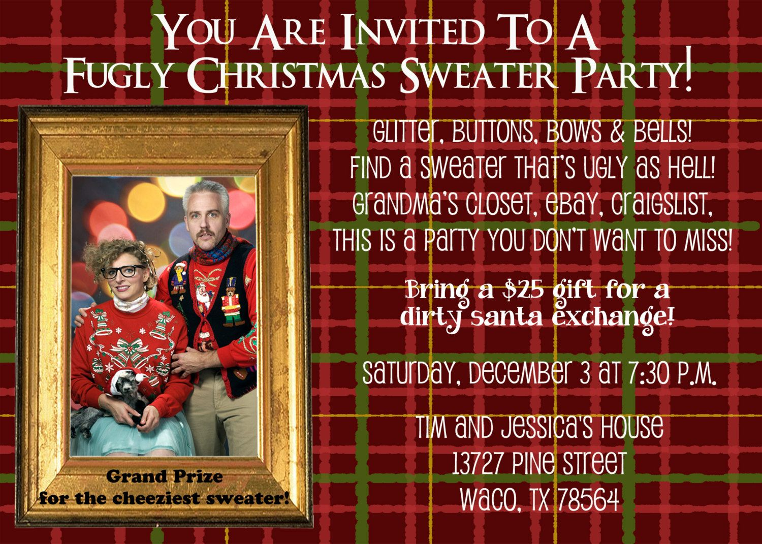 Perfect Personalized Christmas Party Invitations Composition ...