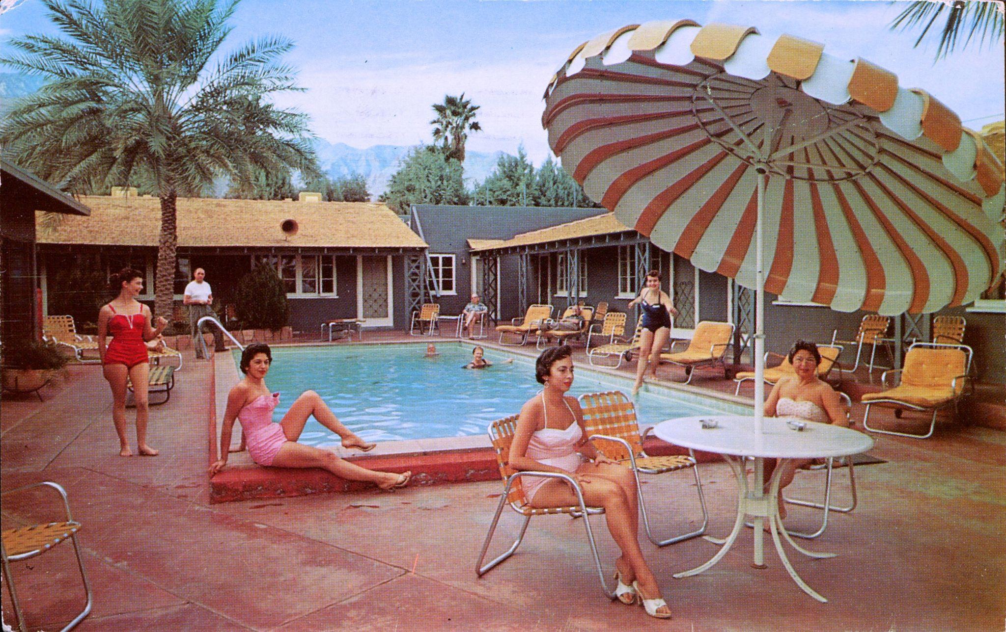 Twin Villas Palm Springs California Vintage Pool Parties
