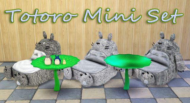 Sims 4 CC's - The Best: Totoro Set by Simple Studio