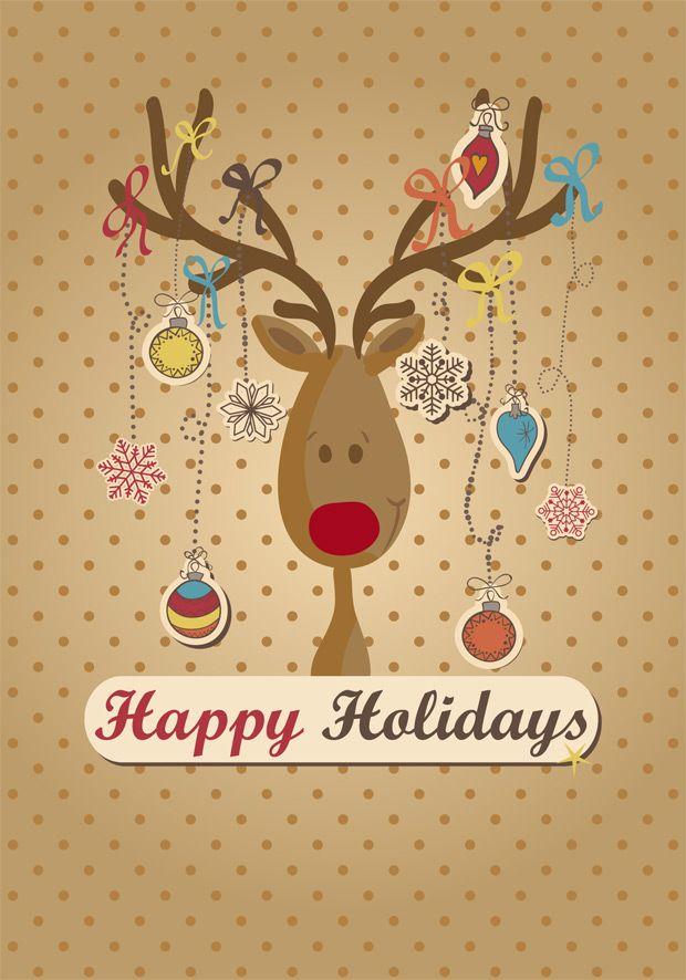 12 bonitas plantillas de tarjetas navide as de - Postales navidenas bonitas ...