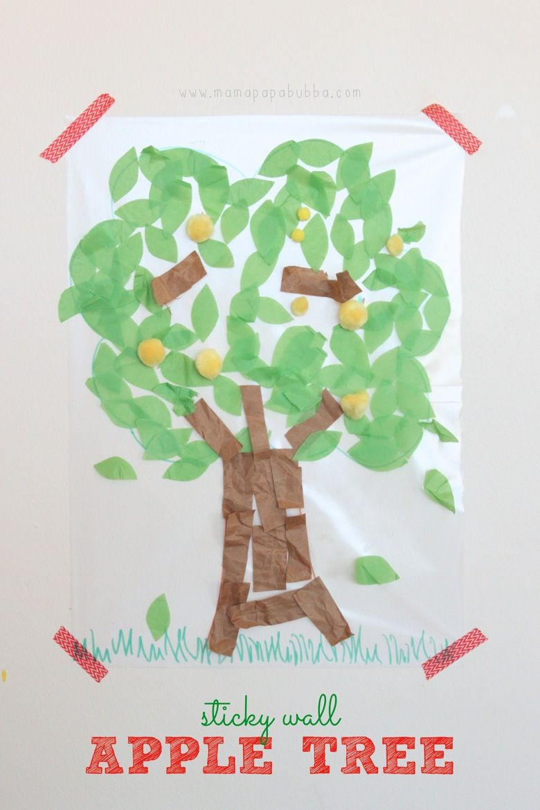 Sticky Wall Apple Tree {& a contact paper tip!}   Mama.Papa.Bubba ...