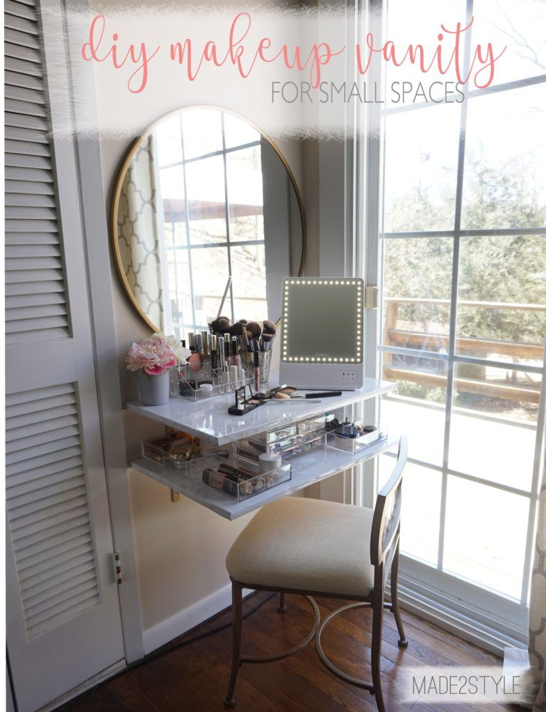 Makeup Vanity For Small Spaces + Glamcor Small space