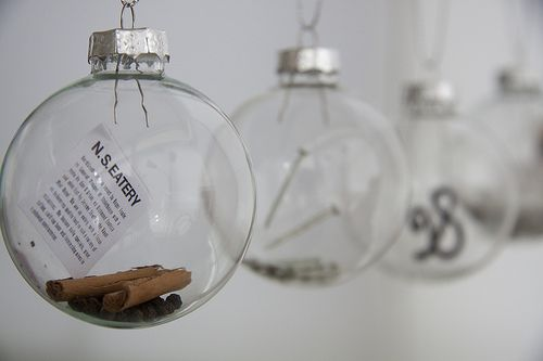 Clear Baubles Filled With The Last Year's Memories