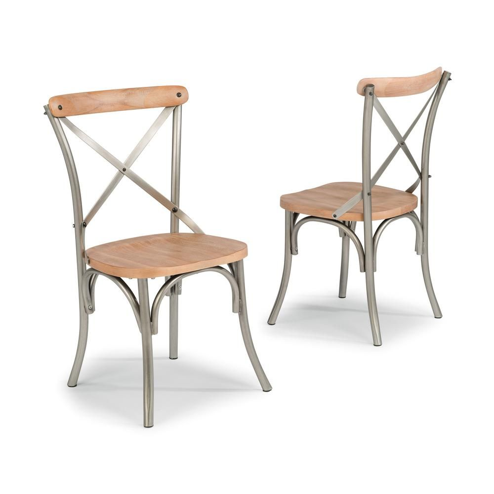 Home Styles French Quarter Aged White Wash Natural Dining Chair