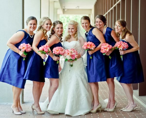 navy blue bridesmaid dresses coral charm peony bouquets classic baton rouge wedding catherine