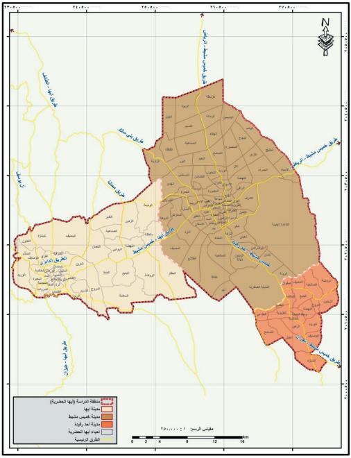 الجغرافيا دراسات و أبحاث جغرافية خصائص الجريمة في منطقة أبها الحضرية دراسة جغرافية Map Blog Geography