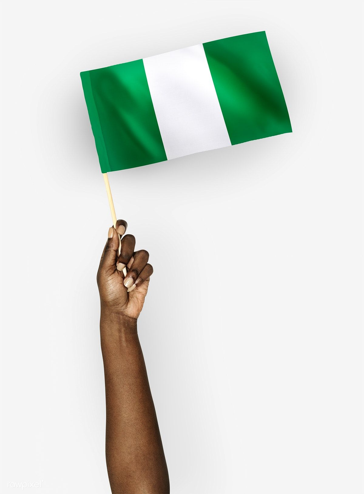 Person Waving The Flag Of Federal Republic Of Nigeria Free Image By Rawpixel Com Flags Of The World Nigerian Flag Republic