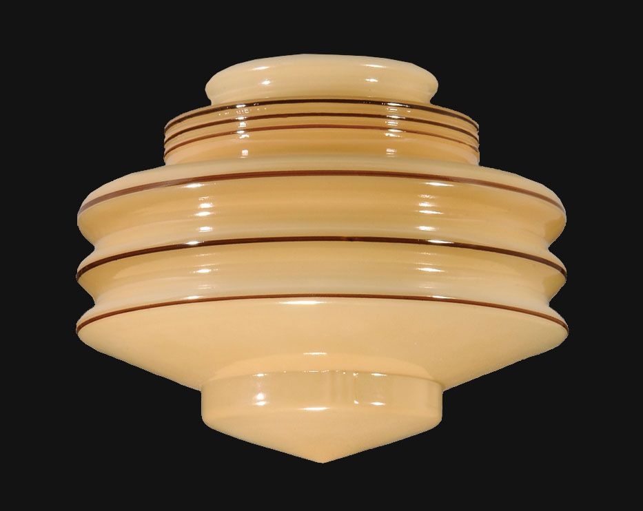8 nu gold art deco glass shade 08881 antique lamp supply