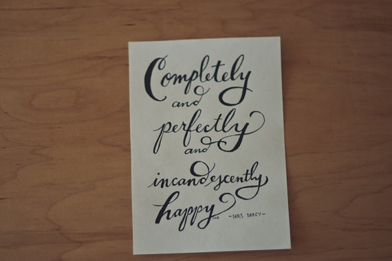 Pride And Pre Ce Quote Typography Print Hand Lettered Quote Print