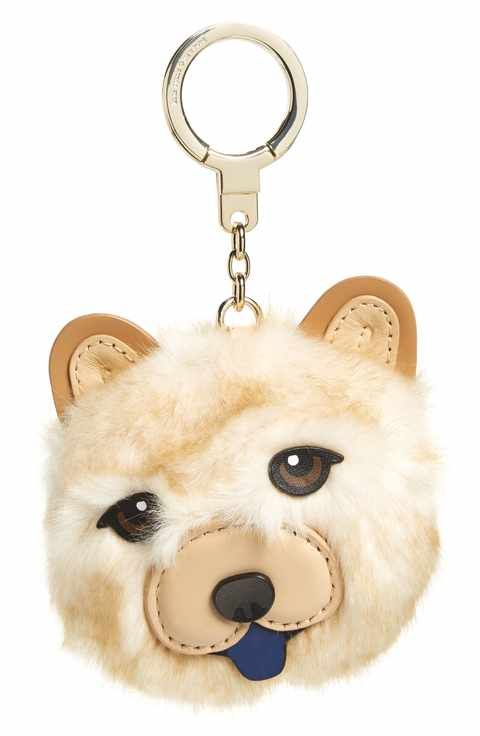 c7f33409c33 kate spade new york chow chow dog bag charm with faux fur
